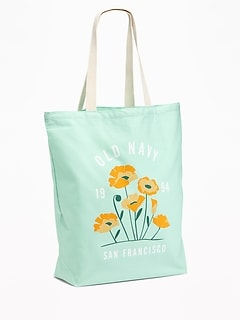Logo-Graphic Canvas Tote for Women