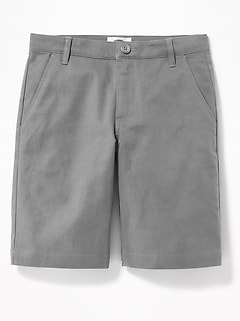 Built-In Flex Twill Straight Uniform Shorts for Boys