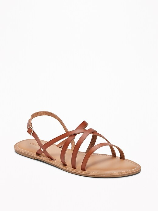 cba4fd6f3d3 OLD NAVY. STRAPPY FAUX-LEATHER SANDALS FOR WOMEN