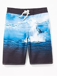 Graphic Board Shorts for Boys