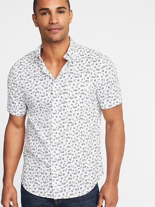 Regular Fit Built In Flex Getaway Shirt For Men by Old Navy