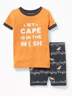 """My Cape Is in the Wash"" Sleep Set for Toddler & Baby"