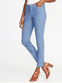 Mid-Rise Linen-Blend Pixie Pants for Women