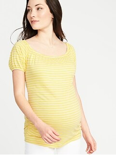 Maternity Side-Shirred Jersey Top