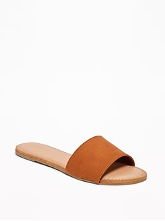 Sueded Slide Sandals for Women