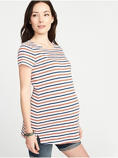 Maternity Relaxed Boat-Neck Top