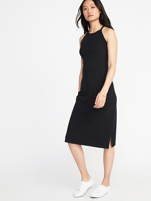 Sleeveless High Neck Midi Dress For Women by Old Navy