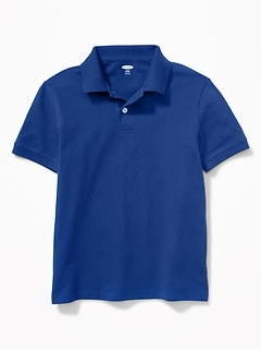 Built-In Flex Uniform Pique Polo for Boys