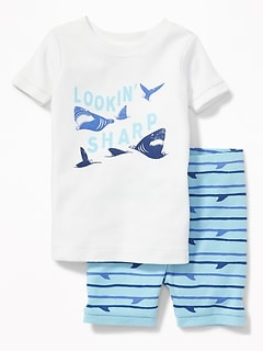 """Lookin' Sharp"" Shark Sleep Set for Toddler & Baby"