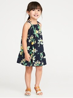 Tiered Floral-Print Sundress for Toddler Girls