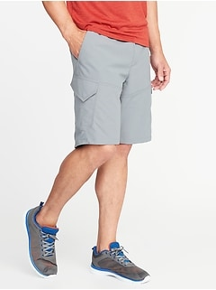 Go-Dry Performance Cargo Shorts for Men - 10-inch inseam