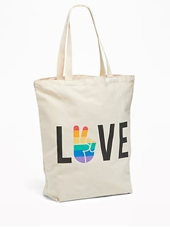 Pride Graphic Canvas Tote