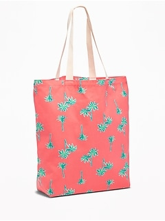 Graphic Canvas Tote for Women
