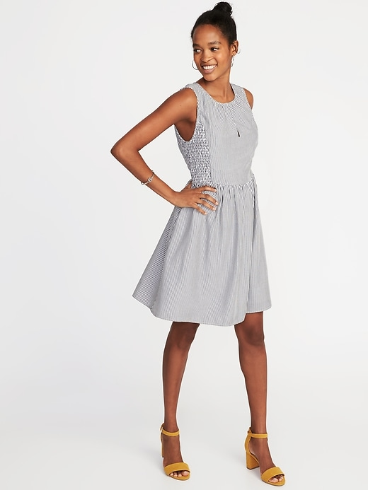 Fit &Amp; Flare Sleeveless Dress For Women by Old Navy