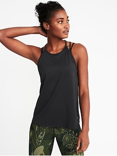 Relaxed High-Neck Performance Swing Tank for Women