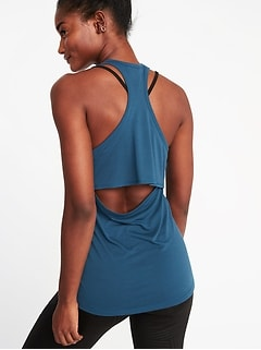 Cutout-Back Performance Tank for Women