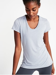 Semi-Fitted Performance Tee for Women