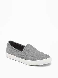 Felt Slip-On Sneakers for Women