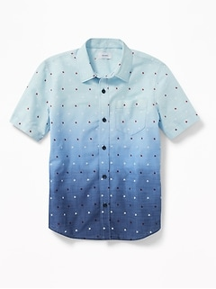 Soft-Washed Printed Shirt for Boys