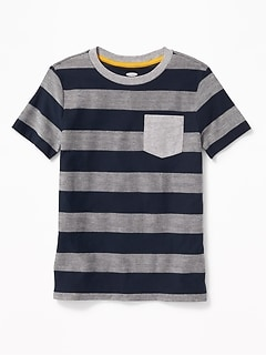 Textured Herringbone-Stripe Tee for Boys