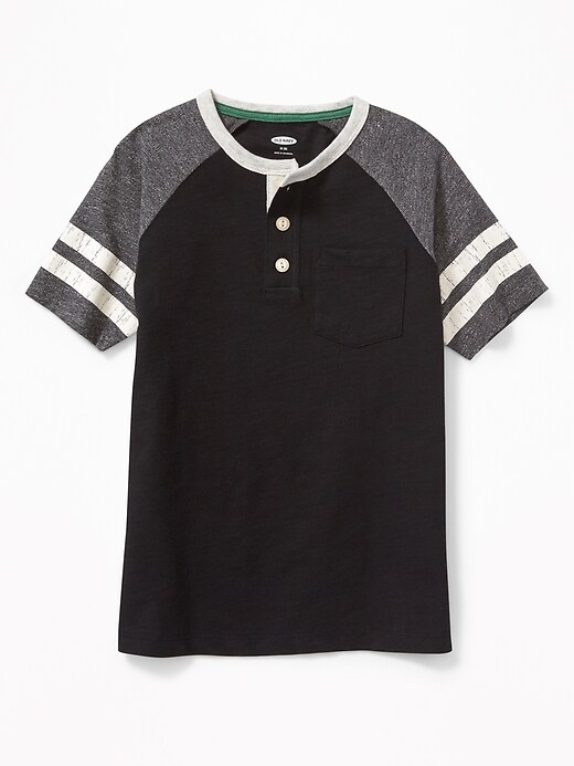 Raglan Pocket Henley For Boys by Old Navy