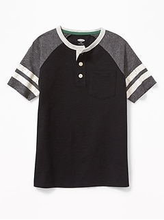 Raglan Pocket Henley for Boys
