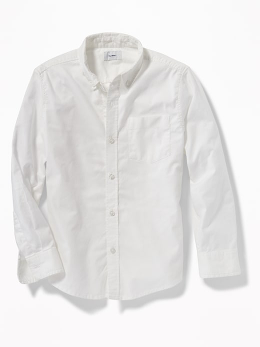 Lightweight Built In Flex Oxford Uniform Shirt For Boys by Old Navy
