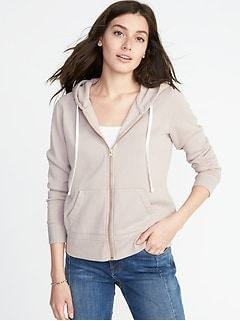 Relaxed Zip-Front Hoodie for Women