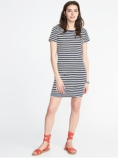 Slub-Knit Tee Dress for Women