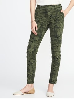 Mid-Rise Utility Pixie Ankle Chinos for Women