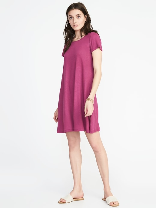 Linen Blend Swing Dress For Women by Old Navy