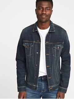 Built-In Flex Jean Jacket For Men