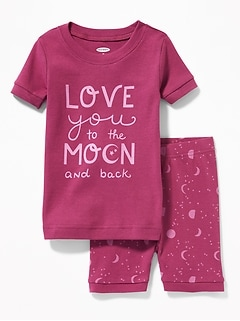 """Love You to the Moon and Back"" Sleep Set for Toddler & Baby"