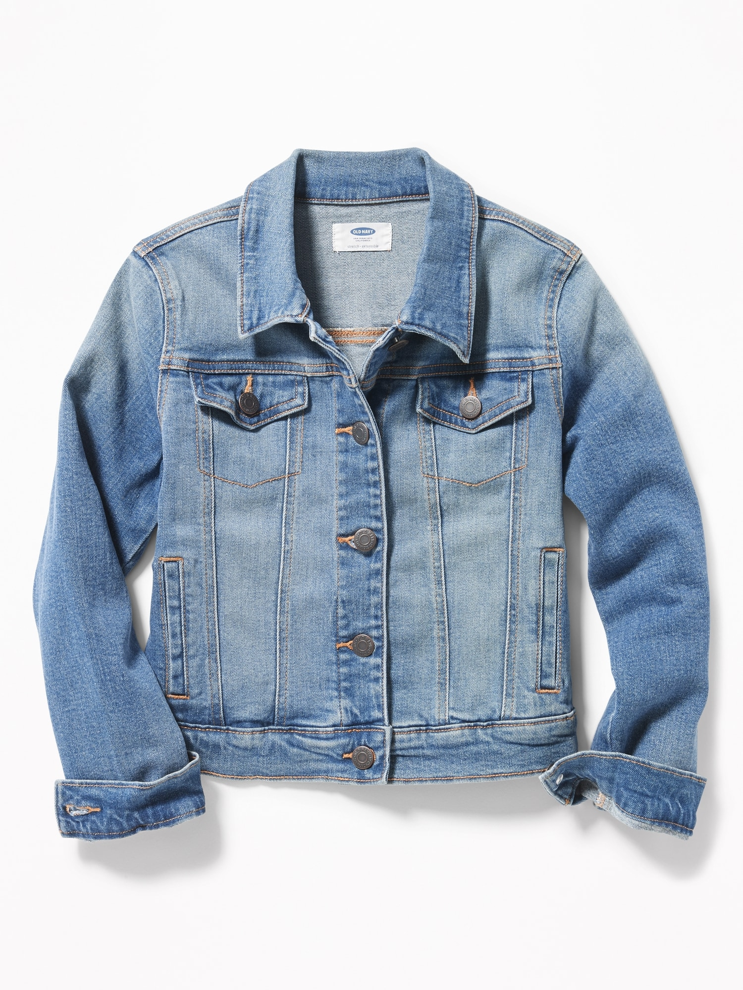 f2252c2dcb4b Medium-Wash Denim Jacket for Girls