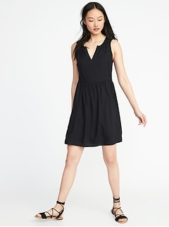 Fit & Flare Sleeveless Dress for Women
