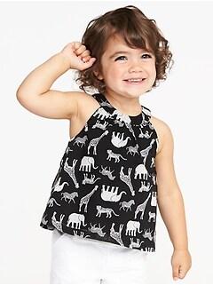 Safari-Animal Print Swing Tank for Toddler Girls