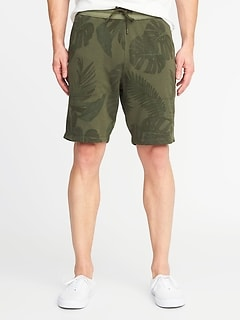 Printed French-Terry Drawstring Shorts for Men - 9 inch inseam