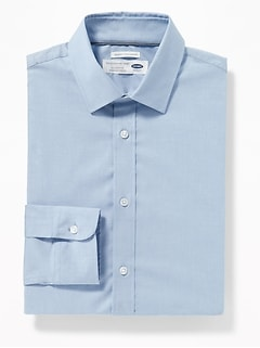 Regular-Fit Built-In Flex Signature Non-Iron Shirt For Men