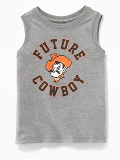 """Future"" College-Team Graphic Muscle Tank for Toddler Boys"