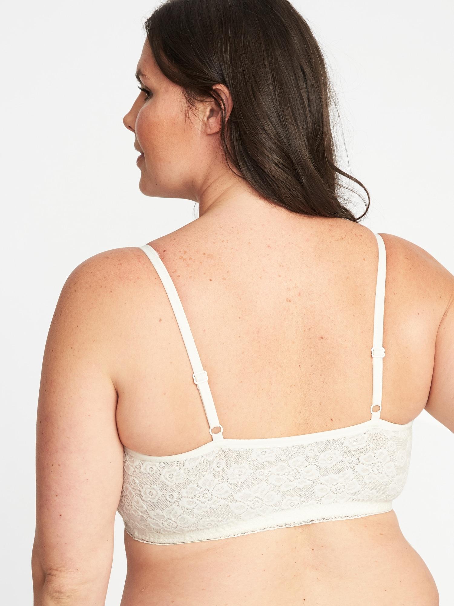 080a7f3e4de Plus-Size Lace Cami Bralette ...