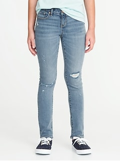 Distressed Skinny Jeans for Girls