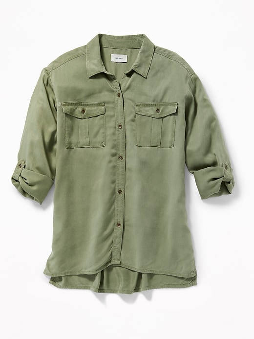 Soft Twill Utility Tunic Shirt For Girls by Old Navy