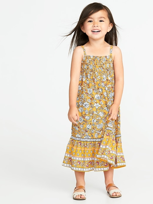 Smocked Neck Maxi Dress For Toddler Girls by Old Navy