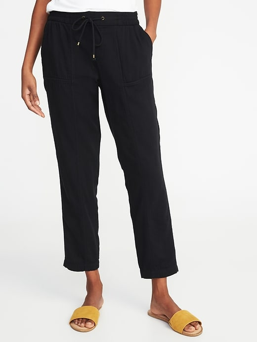 Mid Rise Soft Utility Cropped Pants For Women by Old Navy