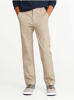 3f125710e2e Stain-Resistant Uniform Pleated Straight Khakis for Boys