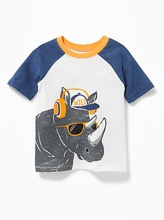 """Wild"" Rhino-Graphic Tee for Toddler Boys"