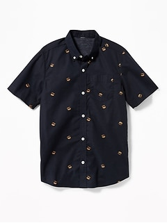 Classic Built-In Flex Printed Shirt for Boys