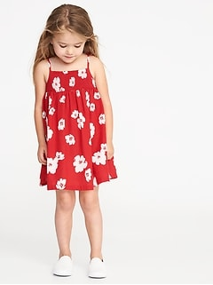 Smocked Floral-Print Sundress for Toddler Girls