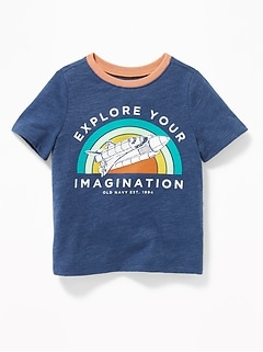 Vehicle-Graphic Slub-Knit Tee for Toddler Boys