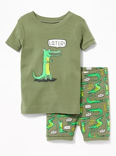 """Later!"" Gator Sleep Set for Toddler & Baby"